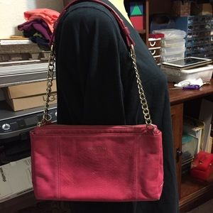 Vintage Cole Haan red leather small purse w/ chain